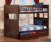 Nantucket Bunk Bed Full over Full Antique Walnut | 24083 | ATL-AB59504