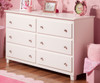 Atlantic 6 Drawer Dresser White   Atlantic Furniture   ATL-C-68652