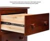 Atlantic 6 Drawer Dresser Antique Walnut | Atlantic Furniture | ATL-C-68654
