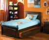 Brooklyn Twin Size Trundle Bed Antique Walnut | 24375 | ATLBRK-TRT-AW