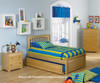 Brooklyn Twin Size Trundle Bed Natural Maple | 24376 | ATLBRK-TRT-NM