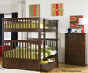 Columbia Full over Full Bunk Bed Antique Walnut | 24380 | ATLCOL-FF-AW