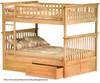 Columbia Full over Full Bunk Bed Natural Maple | 24383 | ATLCOL-FF-NM