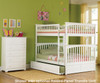 Columbia Full over Full Bunk Bed White | 24384 | ATLCOL-FF-W