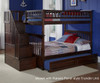 Columbia Full Bunk Bed with Staircase Antique Walnut | Atlantic Furniture | ATLCOL-SSFF-AW