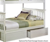 Columbia Staircase Bunk Bed White   Atlantic Furniture   ATLCOL-SSTT-WH