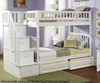 Columbia Staircase Bunk Bed White   24397   ATLCOL-SSTT-WH