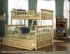 Columbia Twin over Full Bunk Bed Natural   Atlantic Furniture   ATLCOL-TF-NM