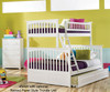 Columbia Twin over Full Bunk Bed White | 24401 | ATLCOL-TF-WH