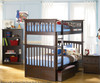 Columbia Bunk Bed Antique Walnut | 24402 | ATLCOL-TT-AW