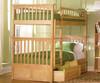 Columbia Bunk Bed Natural Maple   Atlantic Furniture   ATLCOL-TT-NM