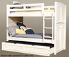 Cottage Traditions Bunk Bed Twin Size | American Woodcrafters | AW6510-33BNKT