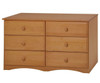 Camaflexi 6 Drawer Dresser White | Camaflexi Furniture | CF-4163