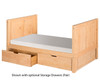 Camaflexi High Platform Bed Twin Size Natural 1 | 24551 | CF-E1021