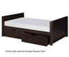 Camaflexi Low Platform Bed Twin Size Cappuccino 2 | 24559 | CF-E122