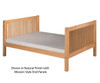 Camaflexi High Platform Bed Full Size Cappuccino | Camaflexi Furniture | CF-E1512
