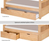Camaflexi High Bunk Bed Twin over Full Size White 1   24590   CF-E1713L