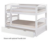 Camaflexi Low Bunk Bed Twin Size White | 24603 | CF-E2003