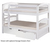 Camaflexi Low Bunk Bed Twin Size White 1 | 24604 | CF-E2003A