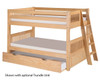 Camaflexi Low Bunk Bed Twin Size Natural 2 | 24607 | CF-E2011L