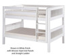Camaflexi Low Bunk Bed Twin Size White 3 | 24612 | CF-E2013A