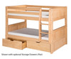 Camaflexi Low Bunk Bed Twin Size Natural 3 | 24615 | CF-E2021