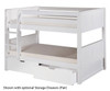 Camaflexi Low Bunk Bed Twin Size White 5 | 24619 | CF-E2023