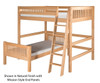 Camaflexi L-Shaped High Loft Bed Full over Twin Size Natural 1 | Camaflexi Furniture | CF-E2121
