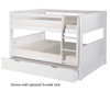 Camaflexi Low Bunk Bed Full Size Cappuccino | Camaflexi Furniture | CF-E2212A