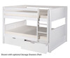 Camaflexi Low Bunk Bed Full Size White | 24634 | CF-E2213A