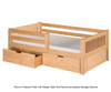 Camaflexi Day Bed with Front Safety Rail Natural | 24641 | CF-E311