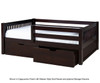 Camaflexi Day Bed with Front Safety Rail Cappuccino 1   24642   CF-E312
