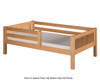 Camaflexi Day Bed with Front Safety Rail Cappuccino 1   Camaflexi Furniture   CF-E312