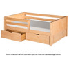 Camaflexi Day Bed with Front Safety Rail Natural 1 | 24644 | CF-E321