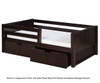 Camaflexi Day Bed with Front Safety Rail Cappuccino 2 | 24645 | CF-E322