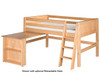 Camaflexi Low Loft Bed Twin Size Natural | 24651 | CF-E411