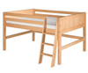 Camaflexi Low Loft Bed Full Size Natural 2 | Camaflexi Furniture | CF-E421F