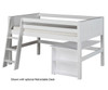 Camaflexi Low Loft Bed Twin Size White 3 | 24680 | CF-E423
