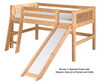 Camaflexi Low Loft Bed with Slide Twin Size Cappuccino 1 | 24687 | CF-E512