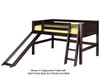 Camaflexi Low Loft Bed with Slide Twin Size Natural 1 | 24689 | CF-E521