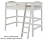 Camaflexi High Loft Bed Twin Size Cappuccino | 24692 | CF-E602