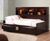 Phoenix Twin Size Bookcase Day Bed | Coaster Furniture | CS400410T