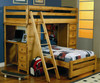 Wrangle Hill Loft Bed with Desk and Storage | Coaster Furniture | CS460141
