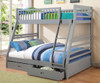Grey Twin over Full Bunk Bed with Drawers | Coaster Furniture | CS460182
