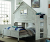 Club House Low Loft Bed with Lower Bed | Donco Trading | DT007DX