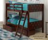Circles Bunk Bed Cappuccino | 24856 | DT1001TTCP