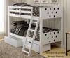 Circles Bunk Bed White | 24857 | DT1001TTW