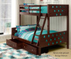 Circles Bunk Bed Twin over Full Cappuccino | 24858 | DT1002TFCP