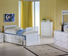 Mission Twin Size Captain's Trundle Bed White | 24866 | DT103W-CL