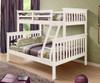 Carolina Twin over Full Bunk Bed White 1 | Donco Trading | DT122W-3CL